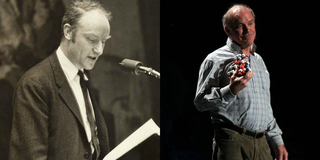 Francis Crick and Kary Mullis. Images from Wikimedia Commons