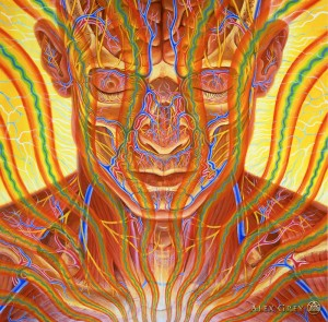 """Contemplation"" by Alex Grey, one of the exhibiting artists at the MAPS fundraising event."