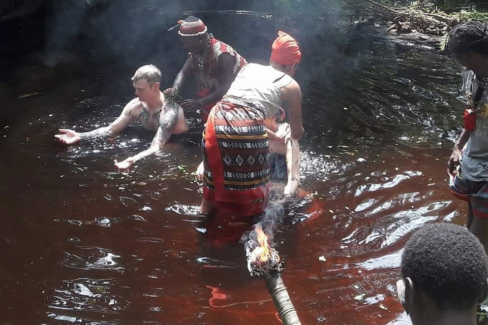 Bwiti cleansing ritual