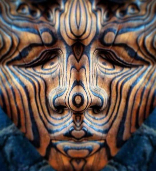 Visionary wood carving